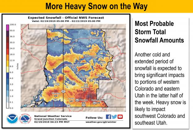 Another Heavy Round Of Snowfall Underway Dove Creek Press - Us-weather-service-map