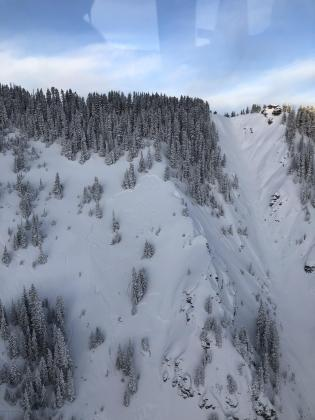 avalanche that ran February 19, 2019 in the Temptation area above Bear Creek, near the Town of Telluride, Colorado.