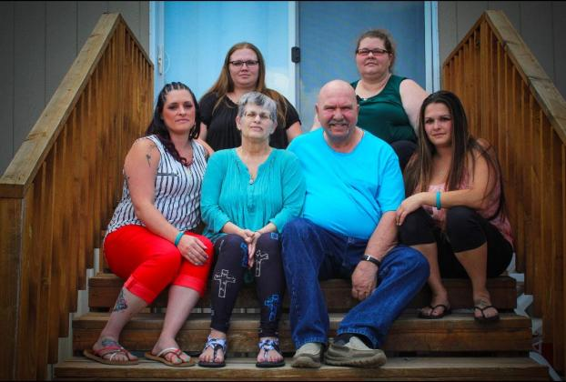 Toni, her husband Ben of 43 years, and their four daughters, Brenda Perez, Lisa Ortiz, Shauna Samora, and Heather Beanland.