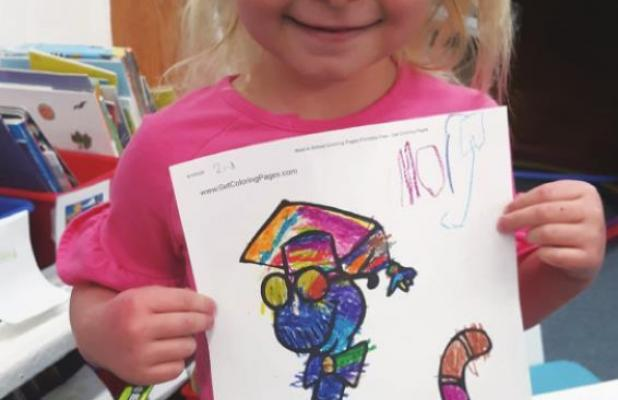 Pre-School Coloring Contest 2nd Place Winner