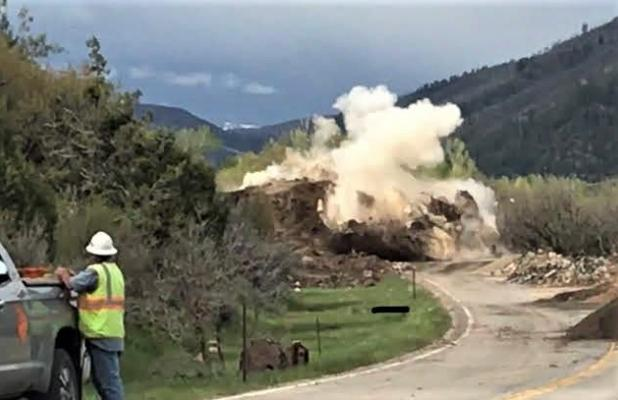 Boulder busting a success! Photo by CDOT